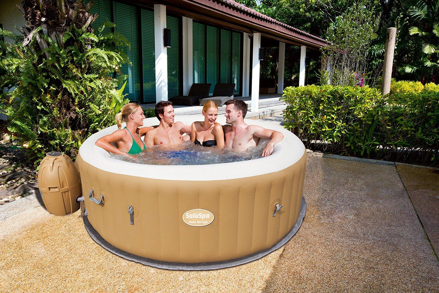 Bestway Lay Z Spa Inflatable Hot Tub Reviews 2016 | Pool Party App