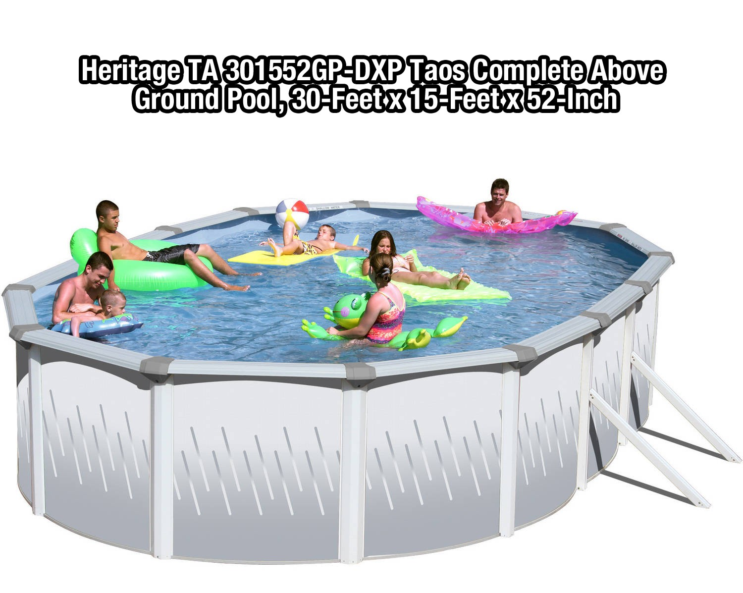 Heritage-TA-301552GP-DXP-Taos-Complete-Above-Ground-Pool-30-Feet-x-15-Feet-x-52-Inch