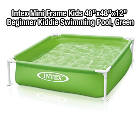 "Intex Mini Frame Kids 48""x48""x12"" Beginner Kiddie Swimming Pool, Green"
