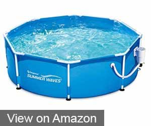 Summer Waves 8' Metal Frame Pool Set