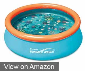 Summer Waves Small Kiddie 8' Inflatable Pool