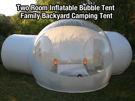 Two Room Inflatable Bubble Tent Family Backyard Camping Tent