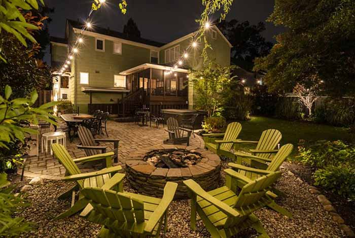 outdoor living spaces on a budget