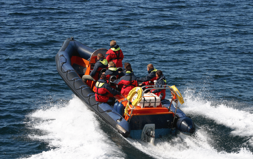 saturn inflatable boat with motor