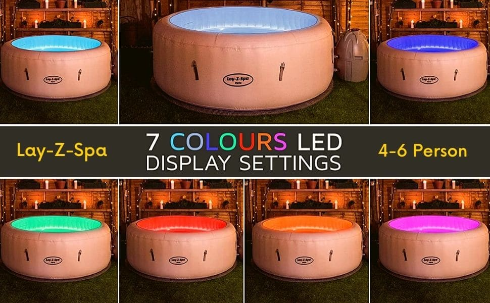 Lay-Z-Spa 7 coliours led display settings